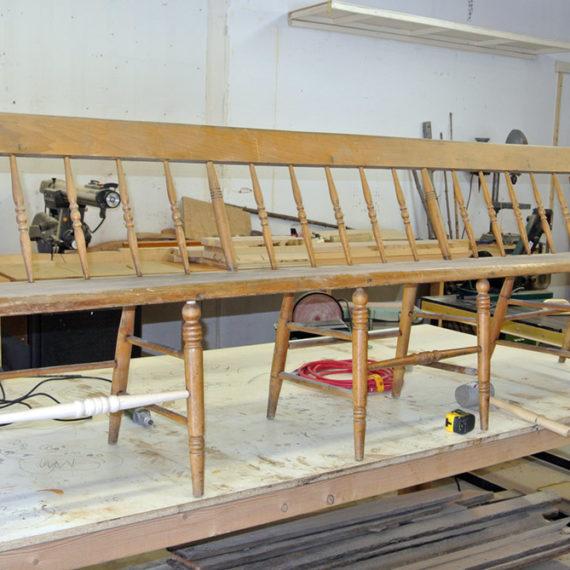 Furniture Restoration - Wood Bench