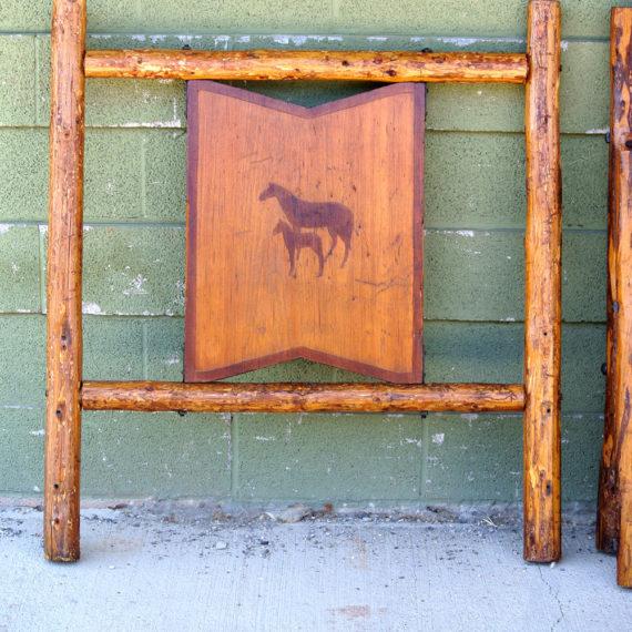 Furniture Restoration - Horse Headboard