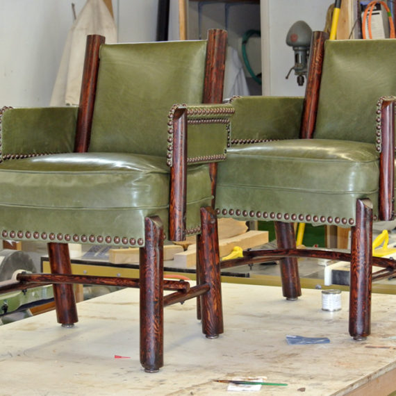 Furniture Restoration - Leather Chairs