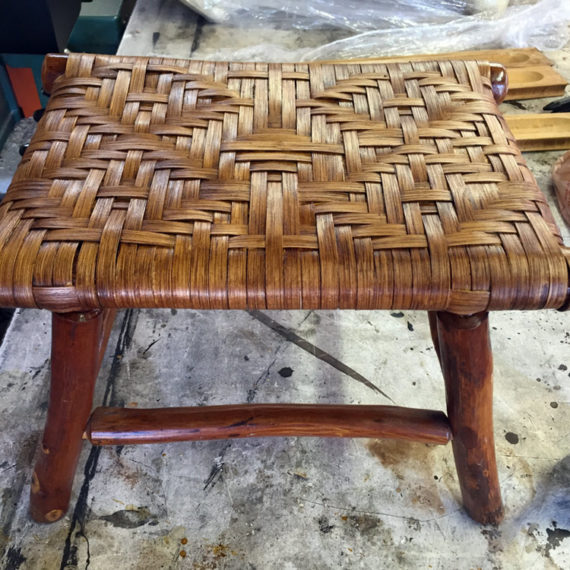 Furniture Restoration - Woven Foot Stool