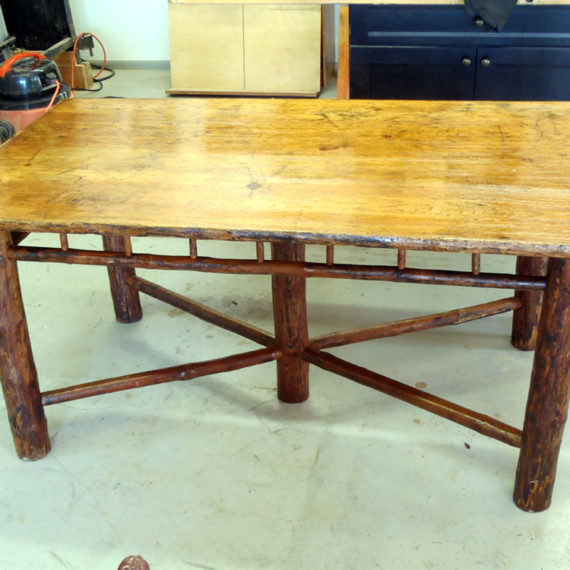 Furniture Restoration - Log Table