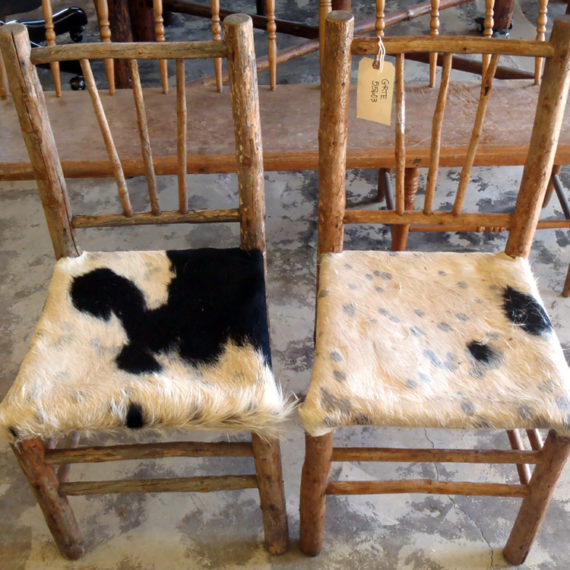 Furniture Restoration - Cowhide Chairs